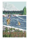 Downieville  California - Fly Fisherman