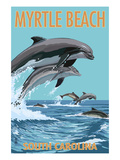 Myrtle Beach  South Carolina - Dolphins Swimming
