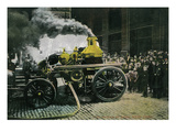 New York  New York - Observing a Steam Powered Fire Engine