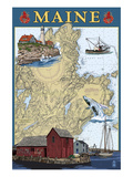Maine Scenes - Nautical Chart
