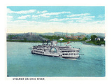 Cincinnati  Ohio - Ohio River Steamer Near City