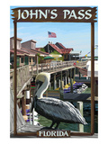 John's Pass  Florida - Pelican and Dock