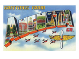 Augusta  Georgia - Large Letter Scenes  Airplanes