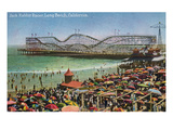 Long Beach  California - Panoramic View of the Jack Rabbit Roller Coaster