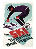 Timberline  West Virginia - Vintage Skier