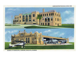 Wichita  Kansas - Administration Building and Planes