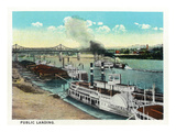 Cincinnati  Ohio - Public Boat Landing Scene