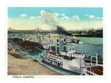 Cincinnati  Ohio - Public Boat Landing Scene