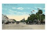 Daytona Beach  Florida - View Down Beach Street