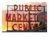 Seattle  Washington - Pike Place Market Sunset