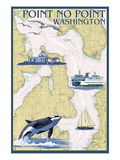 Point No Point Nautical Chart - Washington