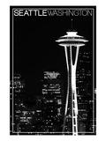 Seattle  Washington - Space Needle and Skyline at Night