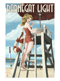 Barnegat Light  New Jersey - Pinup Girl Lifeguard
