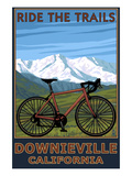 Downieville  California - Bicycle and Mountains