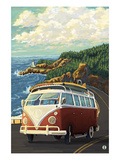 VW Van on Coast