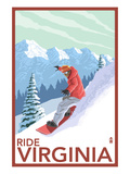 Virginia - Snowboarder Scene