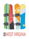 West Virginia - Snowboards in Snow