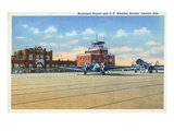 Omaha  Nebraska - View of Municipal Airport and US Weather Bureau