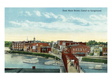 Welland  Ontario - East Main Street and Canal Scene