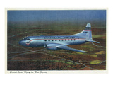 View of Continental Airlines Convair-Liner Flying