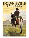 Downieville  California - Cowboy Scene
