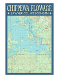 Chippewa Flowage Chart - Sawyer County  Wisconsin