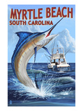Myrtle Beach  South Carolina - Marlin Fishing Scene