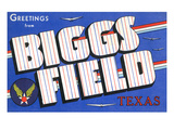Texas - Biggs Field  Large Letter Scenes