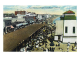Long Beach  California - Crowds at the Band Stand and Pergola