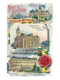 Great Britian - North British Railway Company Station Hotels in Perth  Edinburgh  and Glasgow