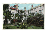 St Augustine  Florida - Alcazar Hotel Court and Rustic Bridge