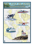 San Juan Islands  Washington - Nautical Chart