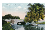 Detroit  Michigan - View of the Canal and Bridge on Belle Isle