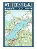 Whitefish Lake Chart - Sawyer County  Wisconsin