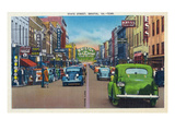 Bristol  Virginia - View of State Street and Bristol  Tennessee