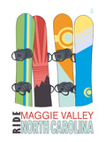 Maggie Valley  North Carolina - Snowboards in Snow