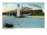 Sault Ste Marie  Michigan - International Bridge Scene