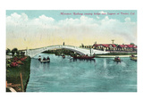 Venice  California - Miniature Railway Crossing Lagoon Bridge