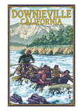 Downieville  California - Rafting Scene