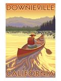 Downieville  California - Canoe Scene