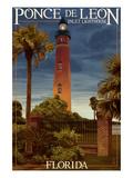 Ponce De Leon Inlet Lighthouse  Florida - Dusk Scene