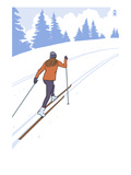 Cross Country Skier Stylized