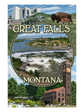 Great Falls  Montana - Montage