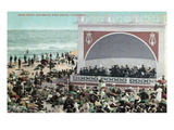 Long Beach  California - View of the Band Stand and Beach