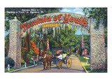 St Augustine  Florida - Fountain of Youth Entrance Scene