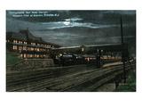 Trenton  New Jersey - Penn Railroad Station  Western Flier at Night