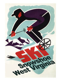 Snowshoe  West Virginia - Vintage Skier