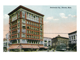 Detroit  Michigan - View of Peninsular Square