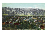 Pasadena  California - View of Mt Lowe and Mt Wilson