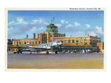 Kansas City  Missouri - Exterior View of Municipal Airport